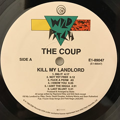 THE COUP:KILL MY LANDLORD(LABEL SIDE-A)