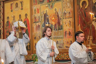 Литургия в Хутынском монастыре 420