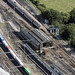Colchester North Station railway sheds - aerial