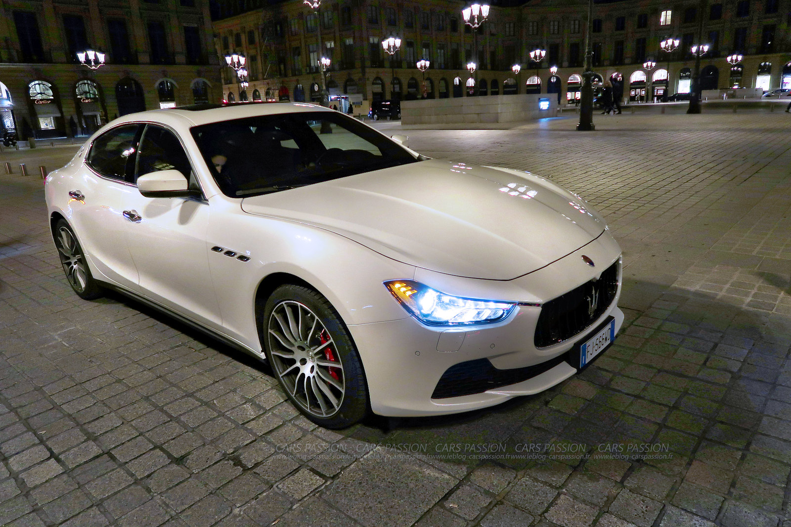 Maserati Ghibli SQ 4 essai Place Vendome Paris