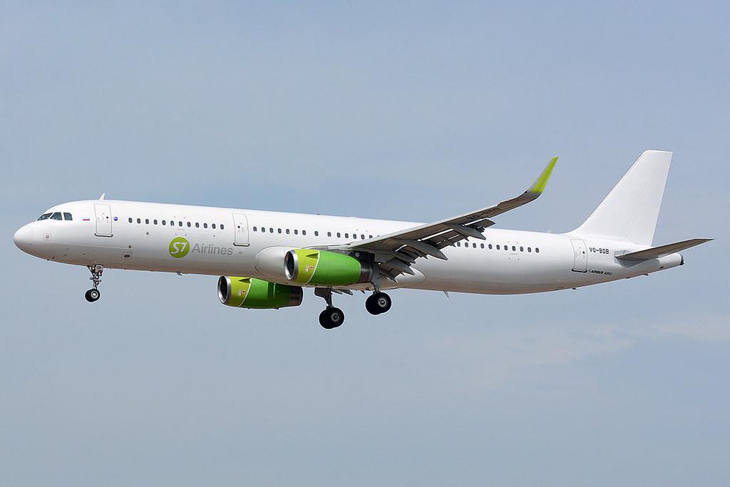 S7 AIRLINES VQ-BDB AIRBUS A321-231(WL) BCN/LEBL