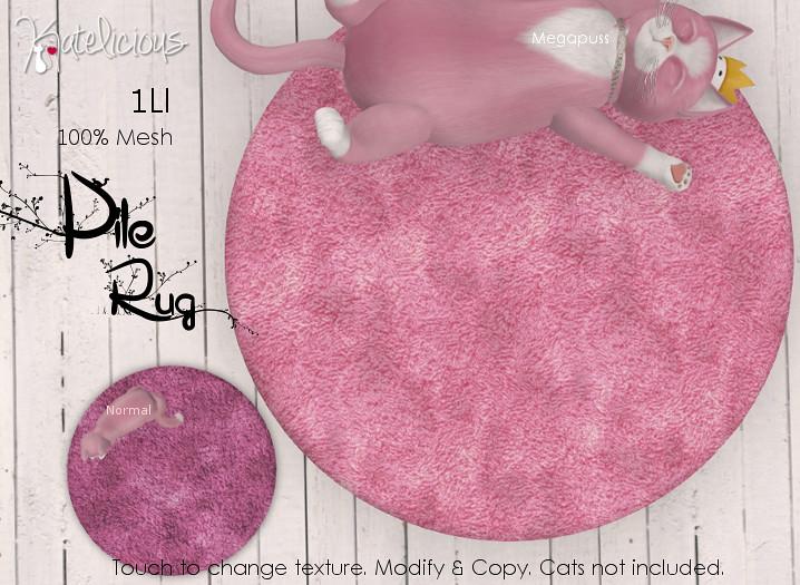 [Katelicious] Pile Rug Pink - SecondLifeHub.com