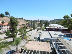 The view from the roof parking at Palos Verdes library