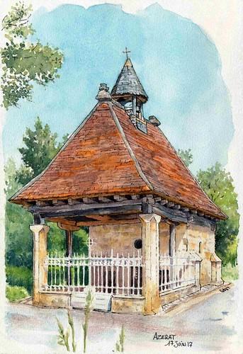 Azerat , chapelle