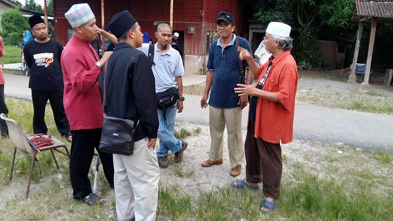 Mior Hashim Manap Di Lokasi Telemovie Janji Allah Di Tv1