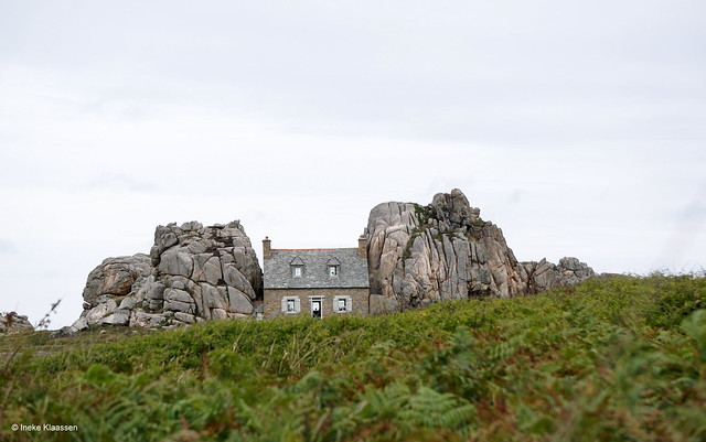 The house between the rocks, Brittany, France