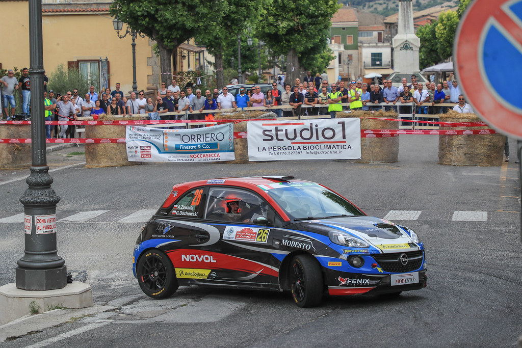 26  ZAWADA Aleksander (POL) DACHOWSKI Grzegorz (POL)  Opel Adam R2 action during the 2017 European Rally Championship ERC Rally di Roma Capitale,  from september 15 to 17 , at Fiuggi, Italia - Photo Jorge Cunha / DPPI