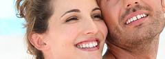 Smiling loving couple