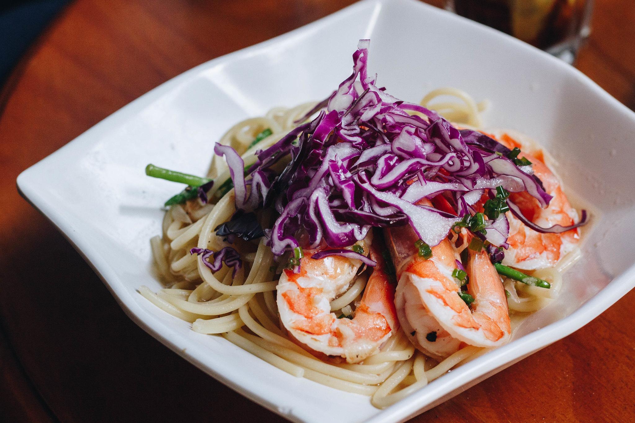 knots coriander prawn pasta 2