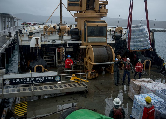 Cutter Elm Delivers 28,000 lbs of Supplies to Vieques Island, Puerto Rico
