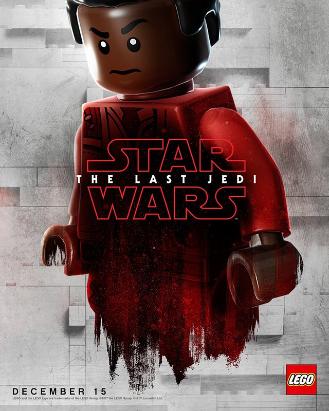 Plakaty LEGO z postaciami Star Wars The Last Jedi 5
