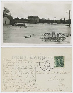 Hico Flood. April 17, 1908. Mill Street Looking South.
