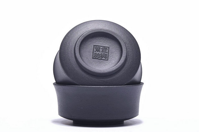 Free Shipping Black Mud Teacup 3pcs/set China YiXing Caliber 6.1 * Height 2.1 cm, Capacity 50cc. M16122613