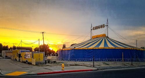 tent circus kingsburg davemeyer sunrise