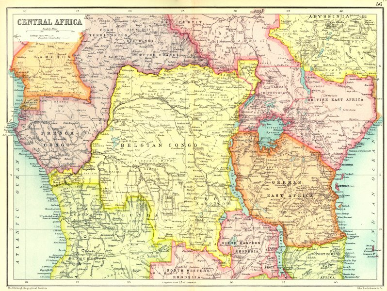 Map of Central Africa (1909)