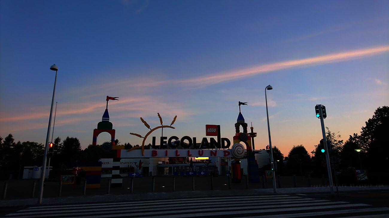 dusk at Legoland