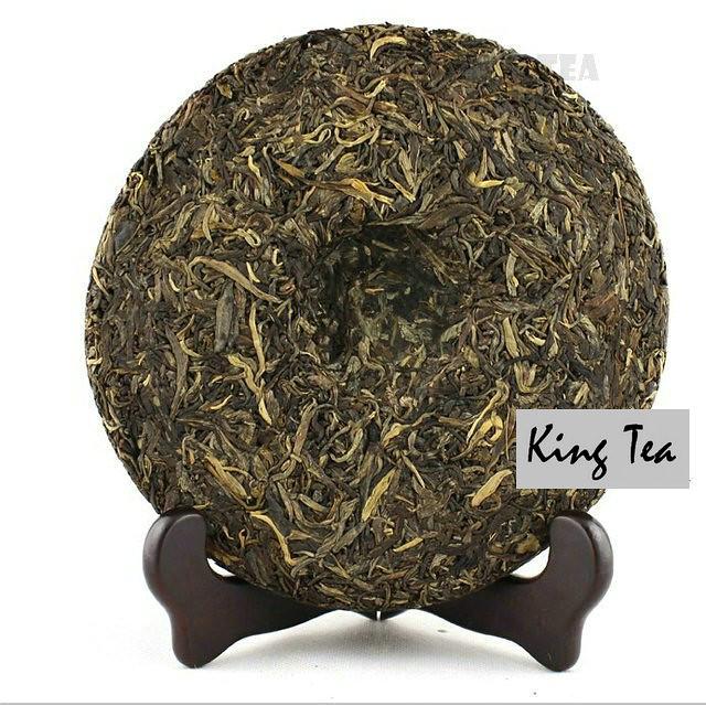 Free Shipping 2012 ShuangJiang MENGKU HAO Beeng Bing Cake 400g  China YunNan Chinese Puer Puerh Raw Tea Sheng Cha