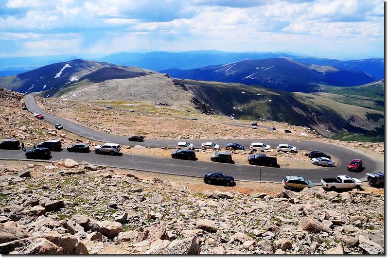Mount Evans山頂俯瞰山頂公路 2