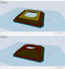 """Van een 3D-onderdeel maak ik een """"slice"""" met de software Wanhoamaker om vervolgens een printfile te genereren voor de 3D-printer."""