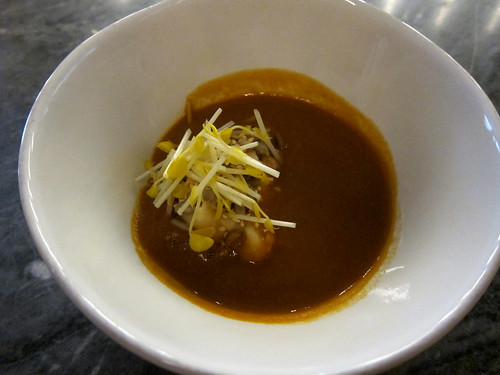 split pea, lobster 'gravy', seeds