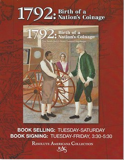 1792 Birth of a Nation's Coinage Book Signing brochure