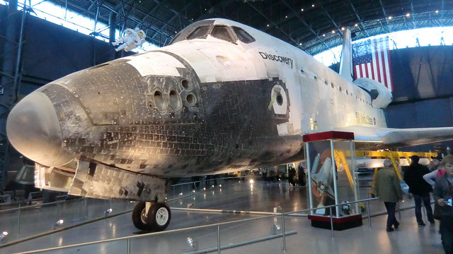 NASA Space Shuttle DISCOVERY - retired workhorse of US-Space-Programme @ Udvar-Hazy Center