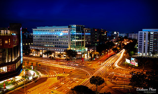 Long exposure at Tampines Central during blue hour