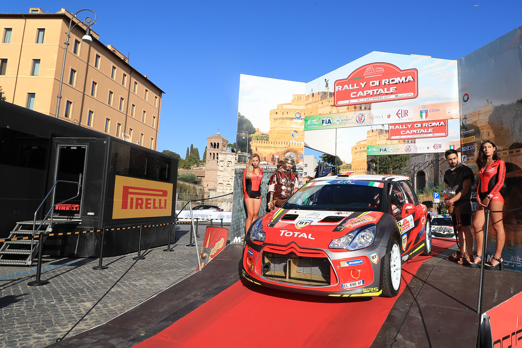 16 TEMPESTINI Simone (ROM) ITU Sergiu (ROM) Citroen DS3  R5 start during the 2017 European Rally Championship ERC Rally di Roma Capitale,  from september 15 to 17 , at Fiuggi, Italia - Photo Jorge Cunha / DPPI