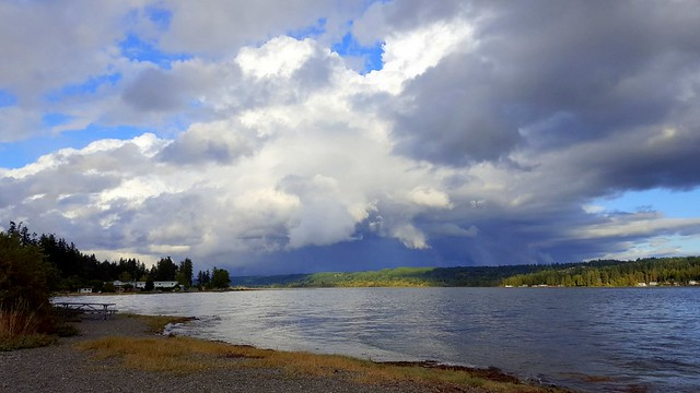 Looking toward the  end of the Hood Canal in Belfair