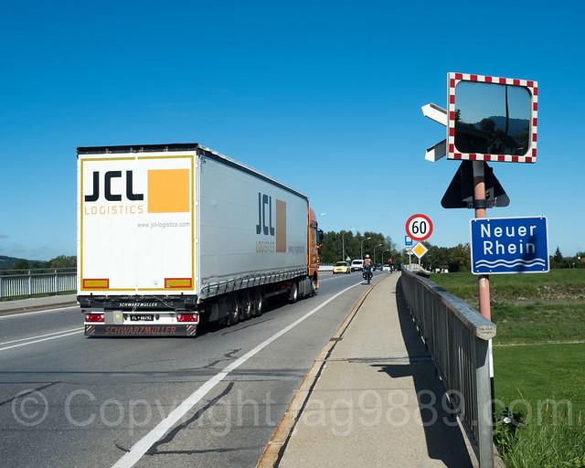 RHE239 Road Bridge over the Alpenrhein River, Höchst - Lustenau, Austria