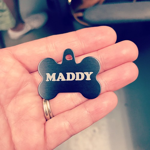 custom, laser-etched dog tag @makerworks_a2