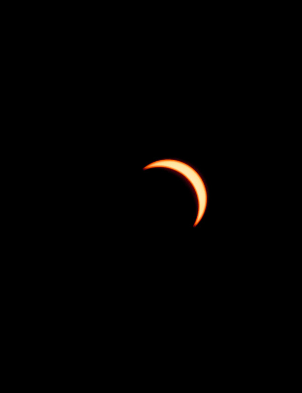 About 10 minutes before the max exclipse here