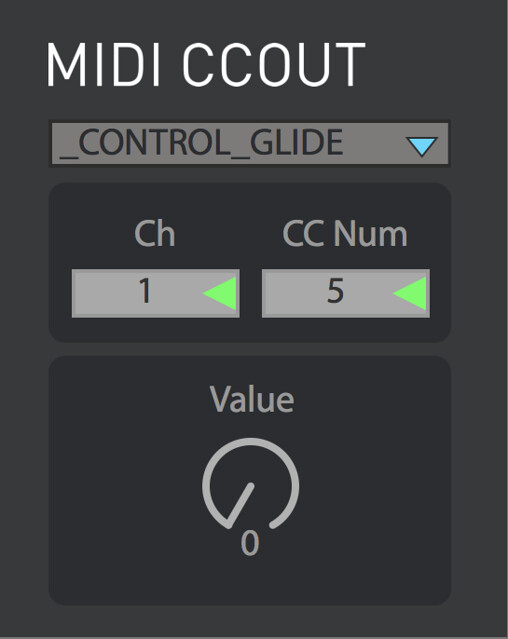 ableton midi cc out