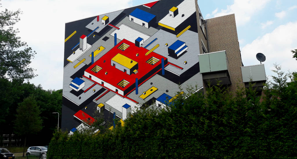 Street art in Utrecht: Johan Moorman, inspired by De Stijl | Your Dutch Guide
