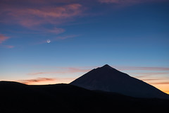 New Moon over Pico del Teide (Tenerife)