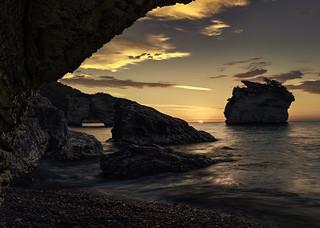 Baia dei Faraglioni at sunrise