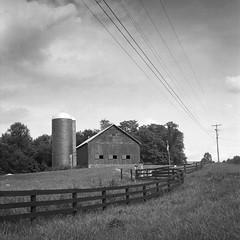 Two sides, one farm, wired - barn, Marham VA