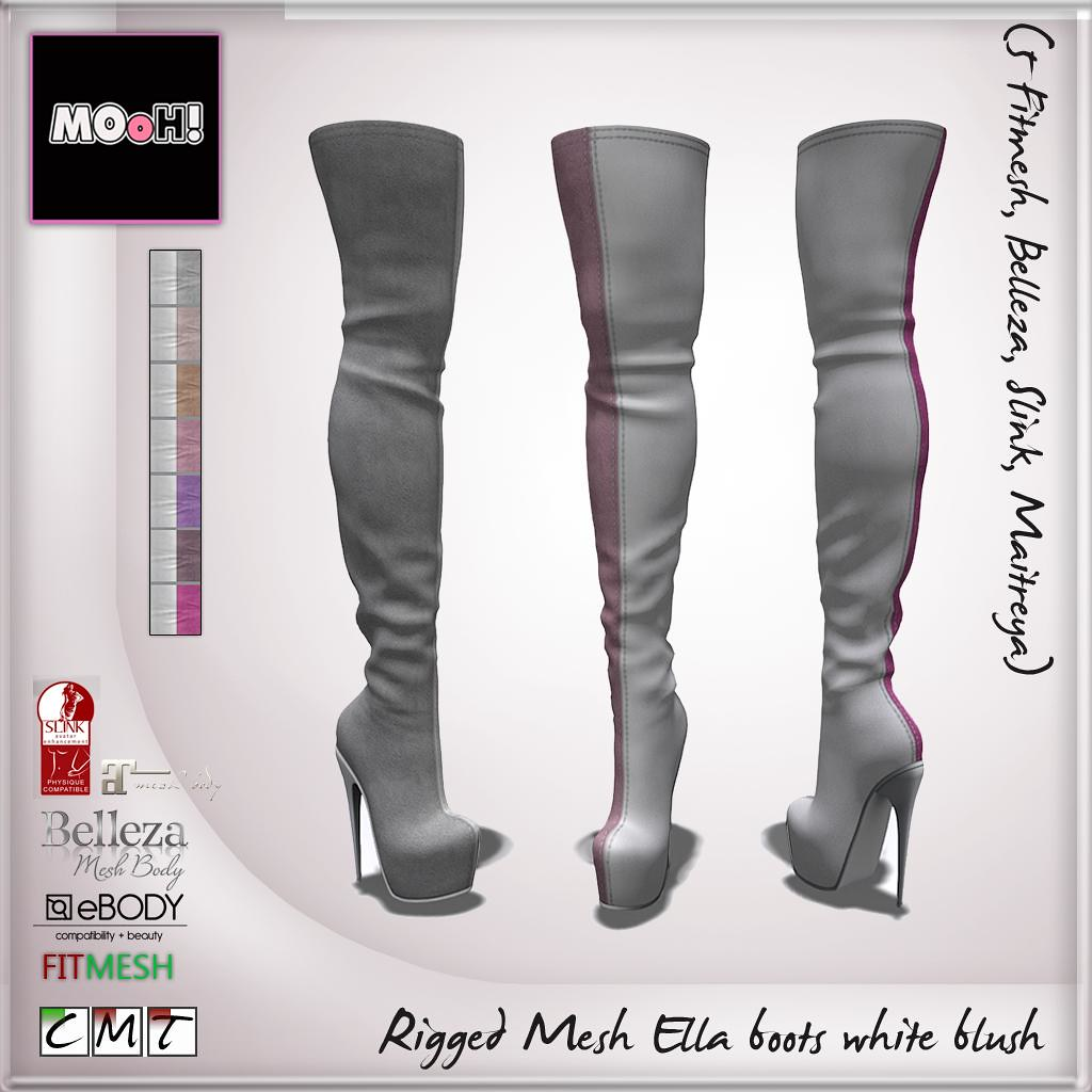 MOoH! Ella boots white blush - SecondLifeHub.com