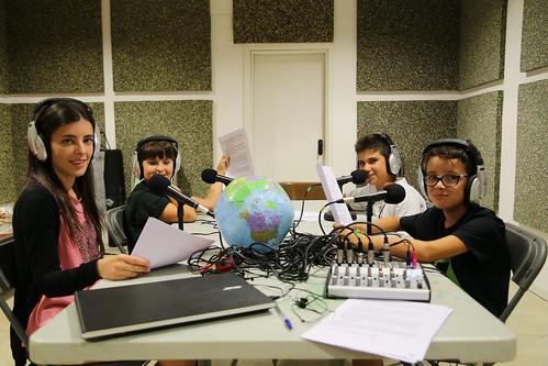Taller radiofònic a la Festa Major 2017 d'El Figaró