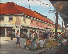 Elias Laxa: Untitled (Market Scene)