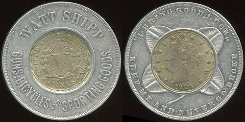 L1710-787 OR Salem-c-XL Encased Liberty Nickel