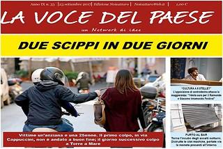 Noicattaro. Prima pagina n. 33-2017 front