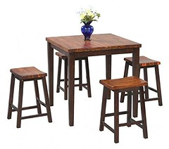 Cheap Fifth Ave 5 Pc Pub Set in Acacia Finish
