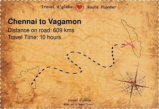 Map from Chennai to Vagamon