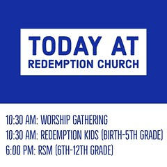 We meet for worship gathering, kids classes and Student Ministry at Cheyenne Middle School, 1271 W Covell Rd, Edmond, Oklahoma. We also have Redemption Groups meeting throughout the city today and this week - visit http://ift.tt/2oYaoxv to find a small gr