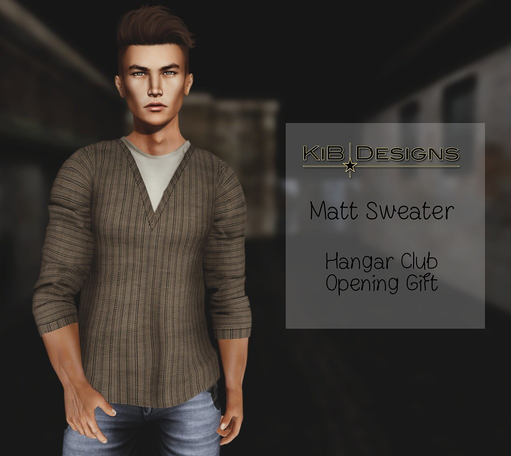 KiB Designs - Matt Sweater - Hangar Club Opening Gift - SecondLifeHub.com