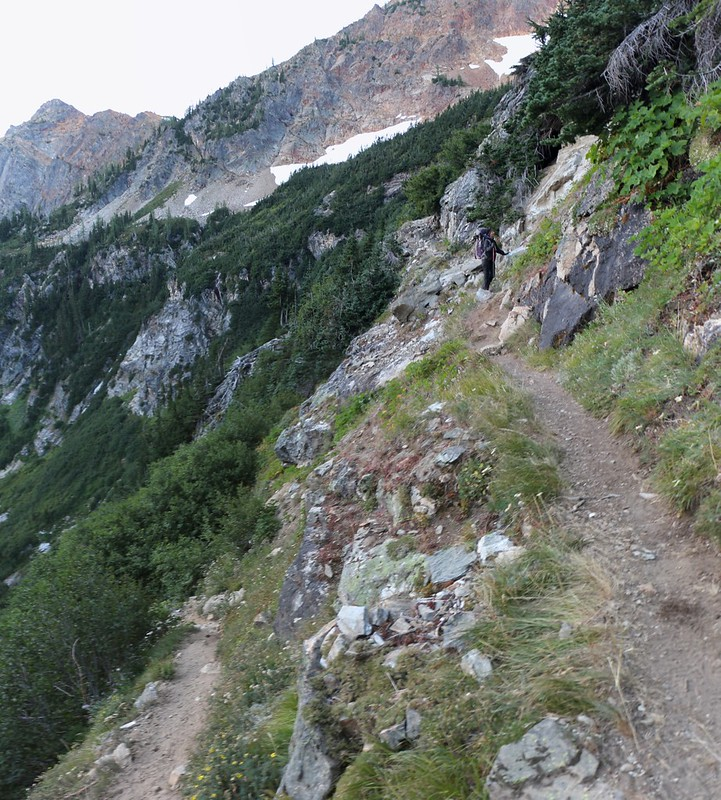 The Spider Gap Trail has some very steep switchbacks on the way down