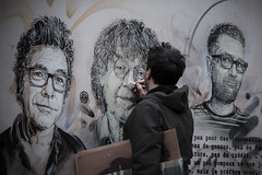 2 ans après les attaques de Charlie Hebdo - Devant les anciens locaux