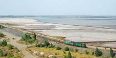Mining train, tailing pond, Kryvyi Rih