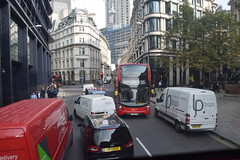 DSC_6222 City of London Bus Route #26 Threadneedle Street Two irresponsible Delivery Vans parked opposite each other blocking the Road